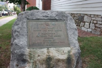 Tablet marking the spot where Alabama entered the Union image. Click for full size.