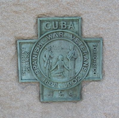 Bronze Medallion on the Pedestal image. Click for full size.