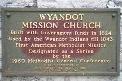 Wyandot Mission Church Marker image. Click for full size.