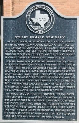 Stuart Female Seminary Marker image. Click for full size.