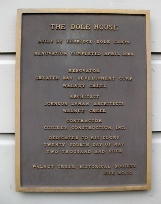 The Dole House Marker image. Click for full size.