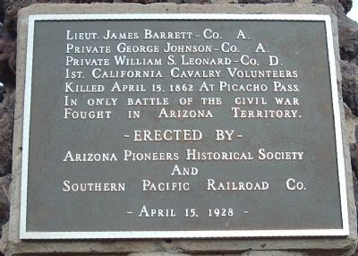 Memorial to the 1st California Cavalry Volunteers Marker image. Click for full size.
