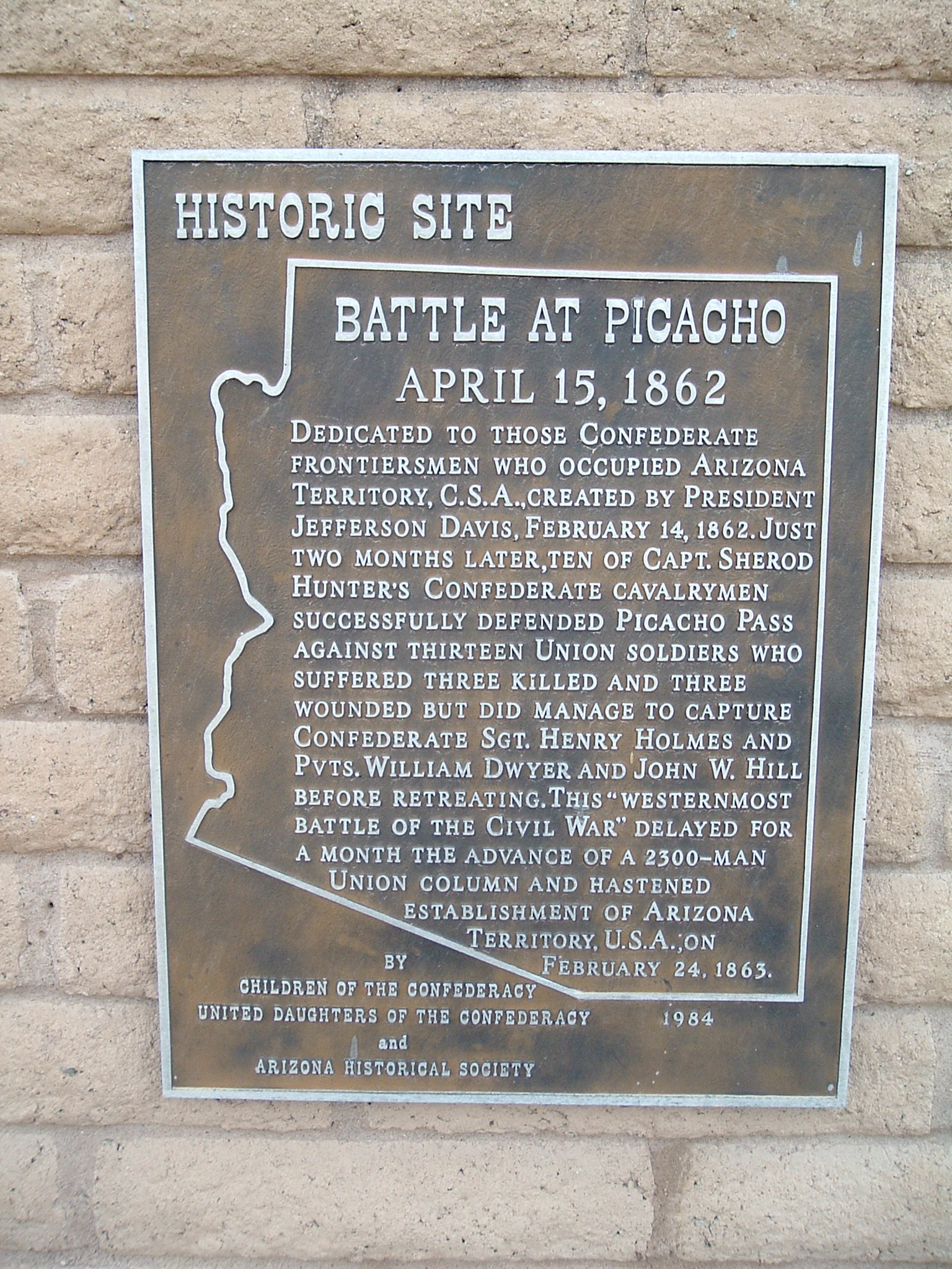 Battle at Picacho Marker