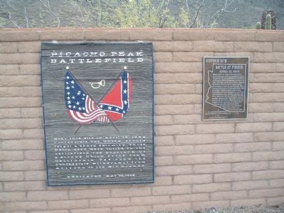 Battle at Picacho Marker image. Click for full size.
