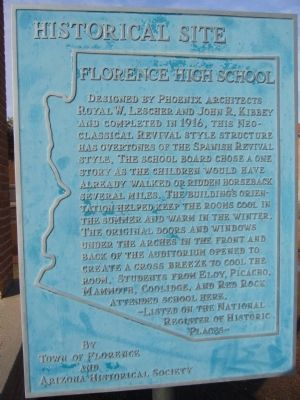 Florence High School Marker image. Click for full size.