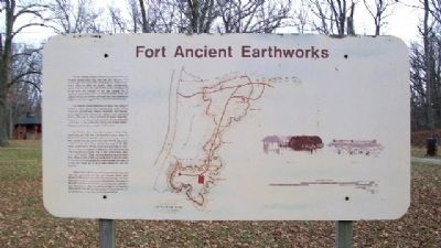 Fort Ancient Earthworks Marker image. Click for full size.