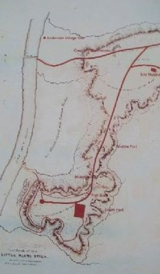 Fort Ancient Earthworks Diagram on Marker image. Click for full size.
