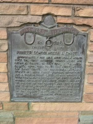 Pioneer Schoolhouse & Chapel Marker image. Click for full size.