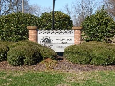 W. C. Patton Park Sign image. Click for full size.
