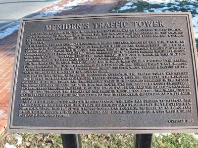 Meriden's Traffic Tower Marker image. Click for full size.