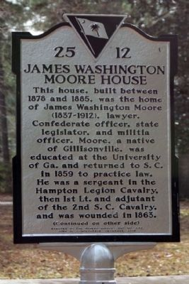 James Washington Moore House Marker image. Click for full size.