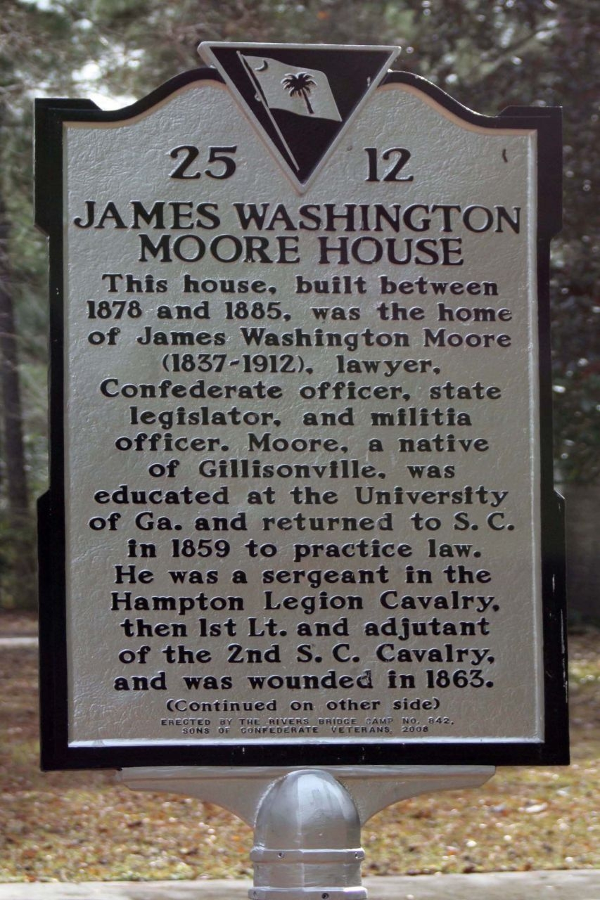 James Washington Moore House Marker