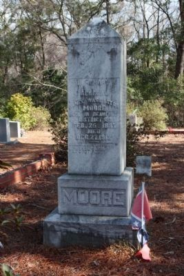 James Washington Moore at Gillisonville Church Cemetery, as mentioned image. Click for full size.