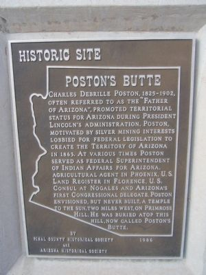 Poston's Butte Marker image. Click for full size.