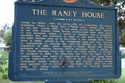 The Raney House Marker image. Click for full size.