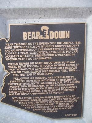Bear Down Marker image. Click for full size.