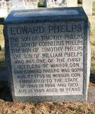 New Edward Phelps Grave Marker image. Click for full size.
