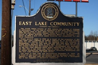 East Lake Community Marker image. Click for full size.