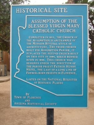 Assumption of the Blessed Virgin Mary Catholic Church Marker image. Click for full size.
