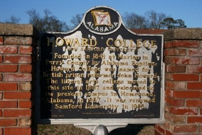 Howard College Marker image. Click for full size.