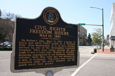 Civil Rights Freedom Riders Marker image. Click for full size.