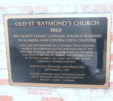 Old St. Raymond's Church Marker image. Click for full size.