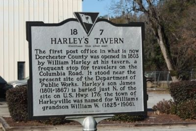 Harley's Tavern Marker image. Click for full size.