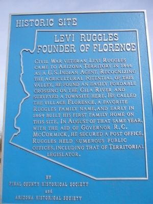 Levi Ruggles Founder of Florence Marker image. Click for full size.