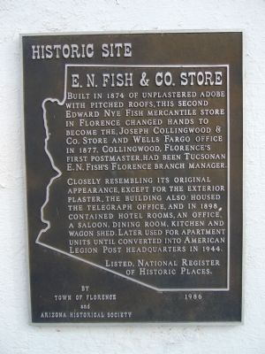 E. N. Fish & Co. Store Marker image. Click for full size.