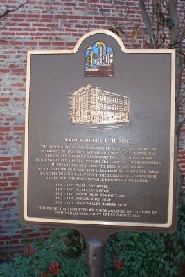 Brock Drugs Building Marker image. Click for full size.