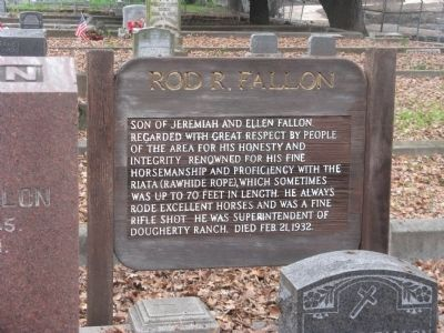 Rod R. Fallon Marker image. Click for full size.