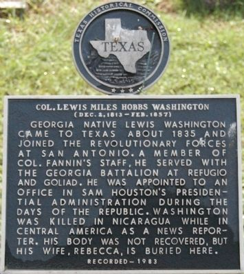 Col. Lewis Miles Hobbs Washington Marker image. Click for full size.