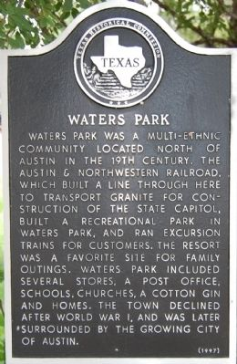 Waters Park Marker image. Click for full size.