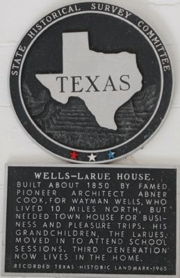 Wells-LaRue House Marker image. Click for full size.