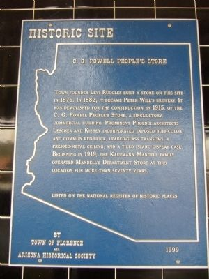 C. G. Powell People's Store Marker image. Click for full size.