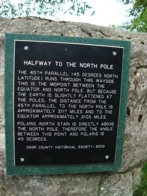 Halfway to the North Pole Marker image. Click for full size.