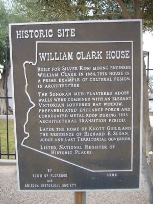 William Clark House Marker image. Click for full size.