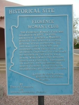 Florence Woman's Club Marker image. Click for full size.