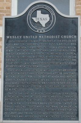 Wesley United Methodist Church Marker image. Click for full size.