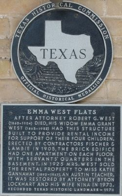 Emma West Flats Marker image. Click for full size.