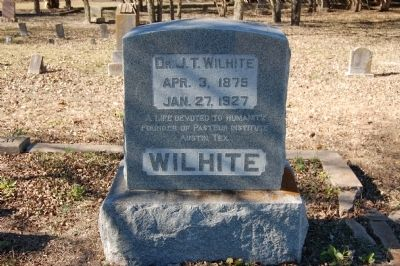 Dr. Jacob Tally Wilhite Gravestone image. Click for full size.