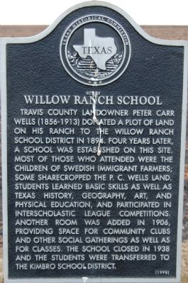 Site of Willow Ranch School Marker image. Click for full size.