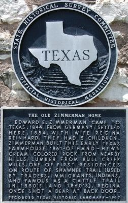 The Old Zimmerman Home Marker image. Click for full size.