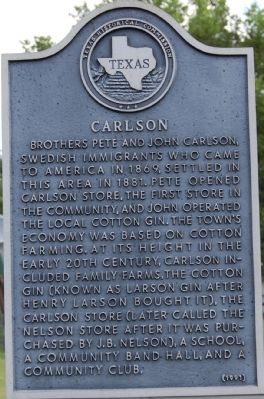 Carlson Marker image. Click for full size.
