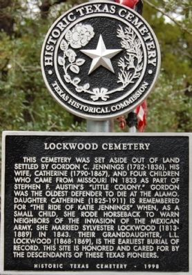 Lockwood Cemetery Marker image. Click for full size.