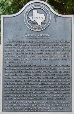Moses Austin Marker image. Click for full size.