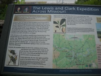 Lewis and Clark Expedition Across Missouri Marker image. Click for full size.