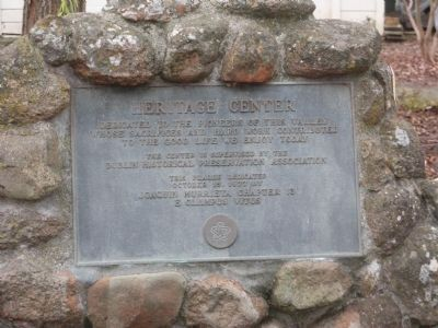 Heritage Center Dedication Plaque image. Click for full size.
