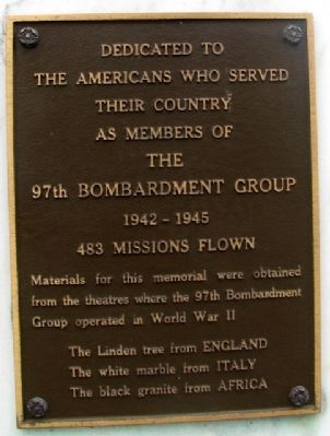 97th Bombardment Group Marker image. Click for full size.