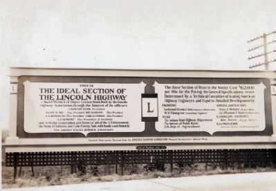 Billboard on the Lincoln Highway in Indiana image. Click for full size.